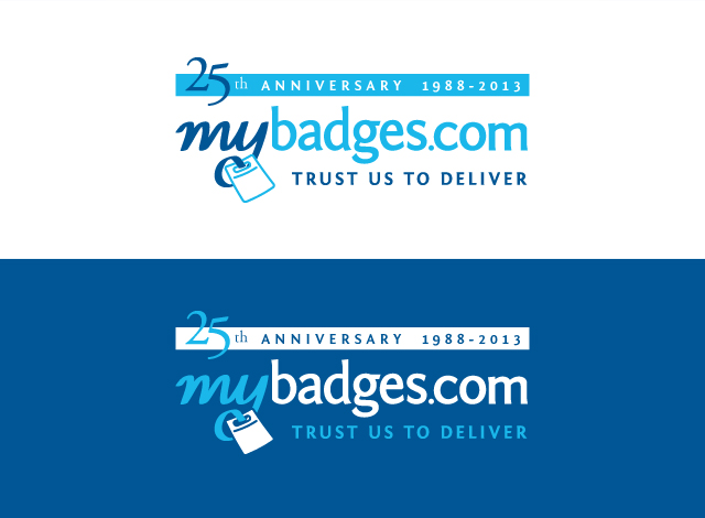 Logo Design by Private User - Entry No. 25 in the Logo Design Contest 25th Anniversary Logo Design Wanted for MyBadges.com.
