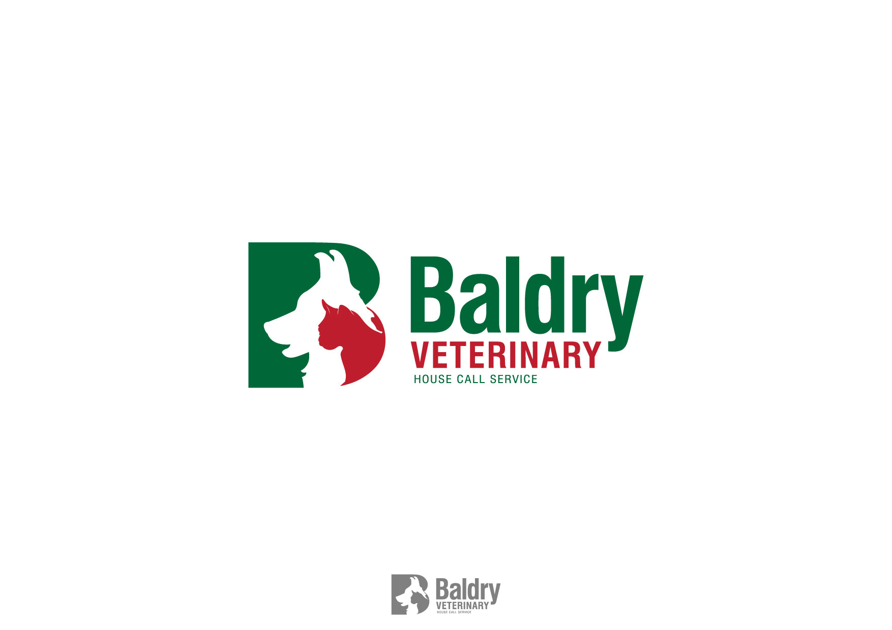 Logo Design by Nurgalih Destianto - Entry No. 32 in the Logo Design Contest Captivating Logo Design for Baldry Veterinary House Call Service.
