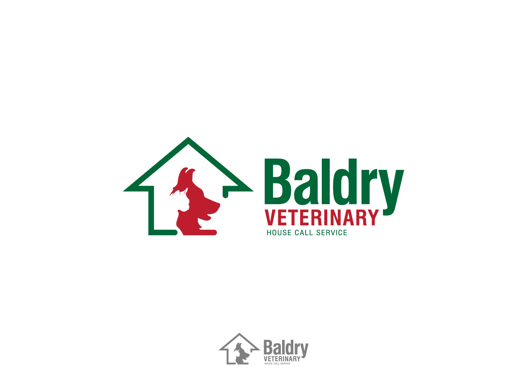 Logo Design by Nurgalih Destianto - Entry No. 33 in the Logo Design Contest Captivating Logo Design for Baldry Veterinary House Call Service.