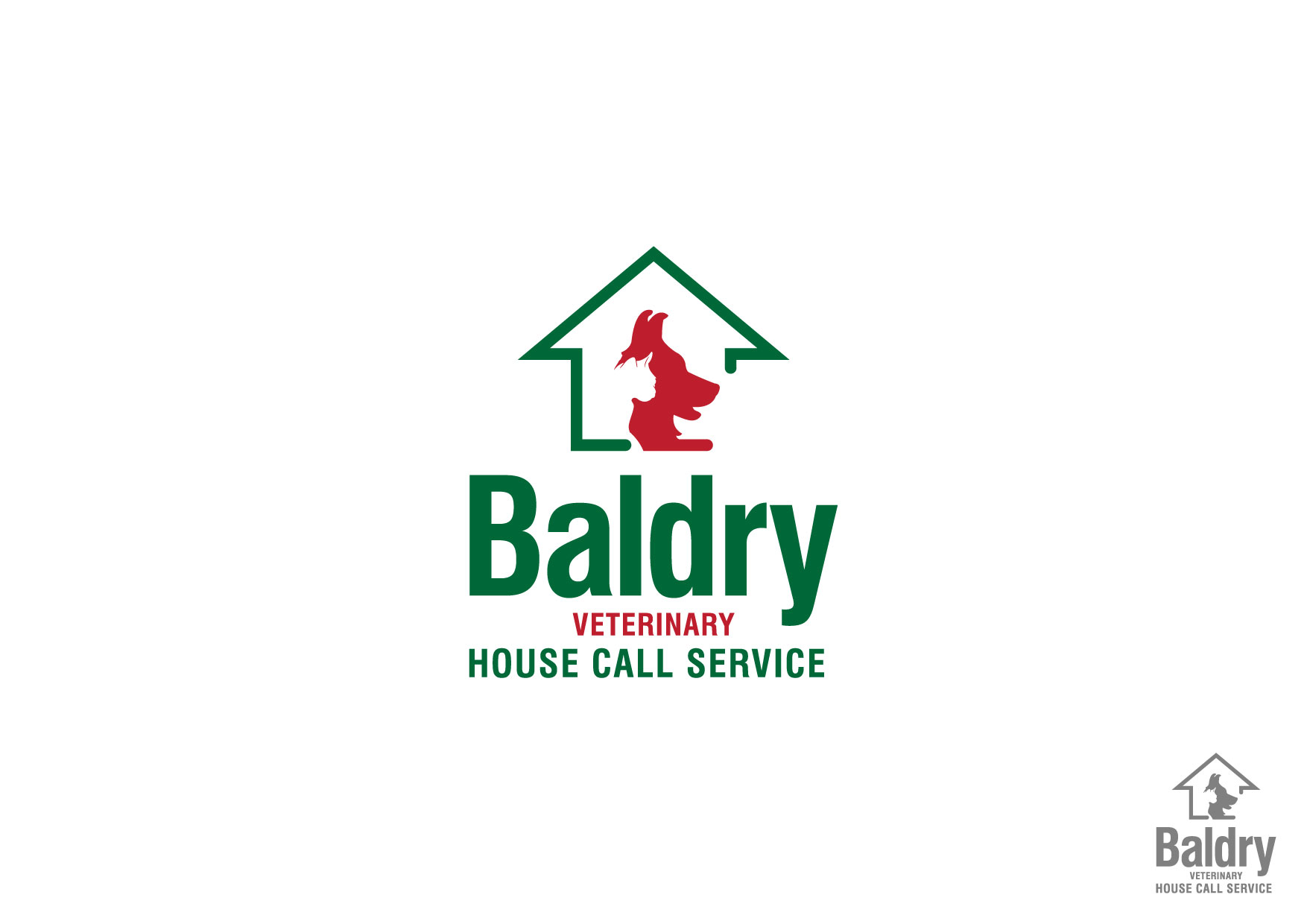 Logo Design by Nurgalih Destianto - Entry No. 35 in the Logo Design Contest Captivating Logo Design for Baldry Veterinary House Call Service.