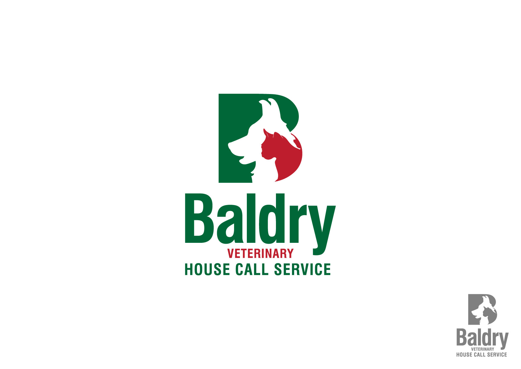 Logo Design by Nurgalih Destianto - Entry No. 36 in the Logo Design Contest Captivating Logo Design for Baldry Veterinary House Call Service.