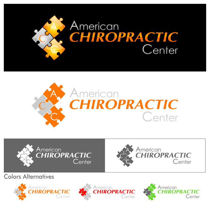 Logo Design by PJD - Entry No. 207 in the Logo Design Contest Logo Design for American Chiropractic Center.