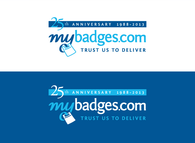 Logo Design by Private User - Entry No. 27 in the Logo Design Contest 25th Anniversary Logo Design Wanted for MyBadges.com.