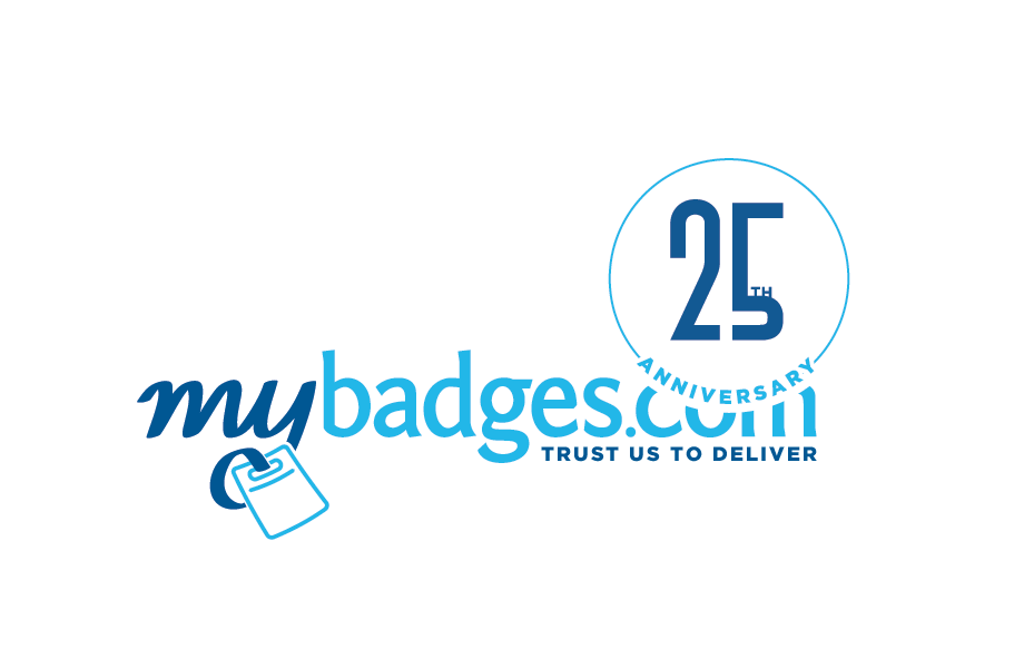 Logo Design by Kayla Labatte - Entry No. 28 in the Logo Design Contest 25th Anniversary Logo Design Wanted for MyBadges.com.
