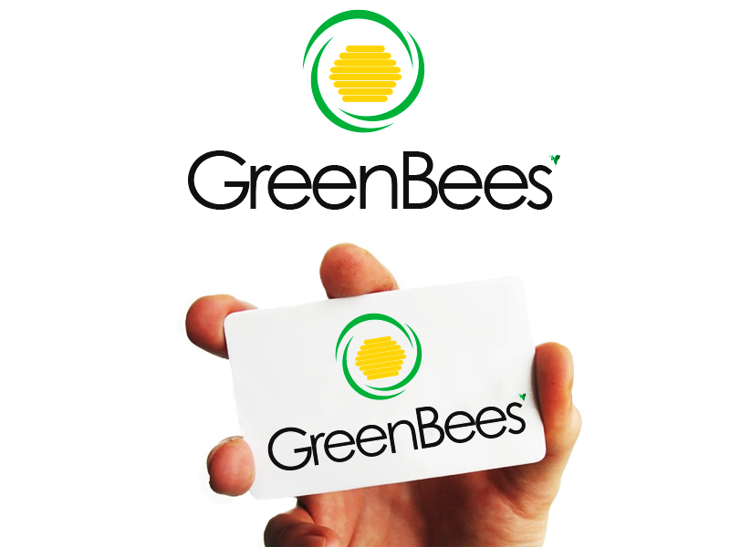 Logo Design by Mythos Designs - Entry No. 77 in the Logo Design Contest Greenbees Logo Design.