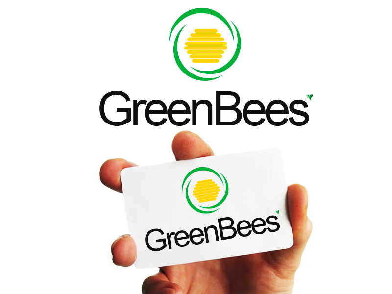 Logo Design by Mythos Designs - Entry No. 78 in the Logo Design Contest Greenbees Logo Design.
