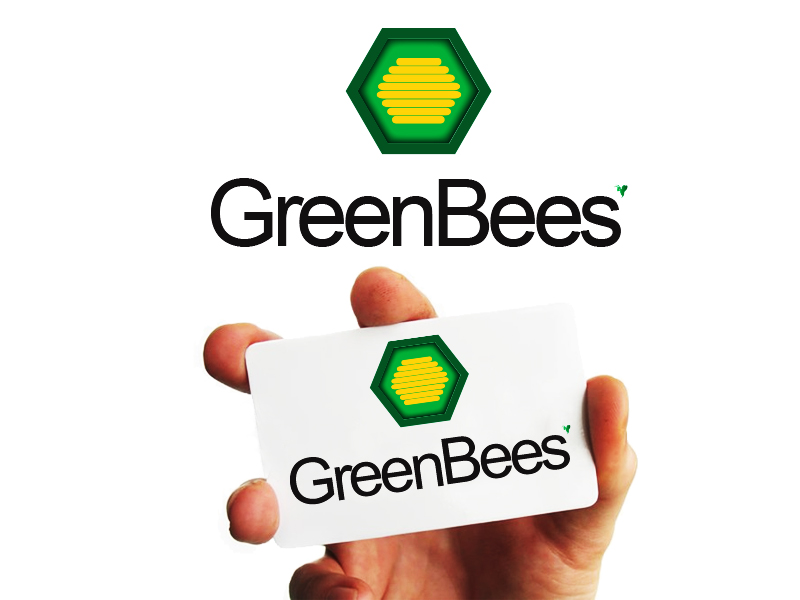 Logo Design by Mythos Designs - Entry No. 83 in the Logo Design Contest Greenbees Logo Design.