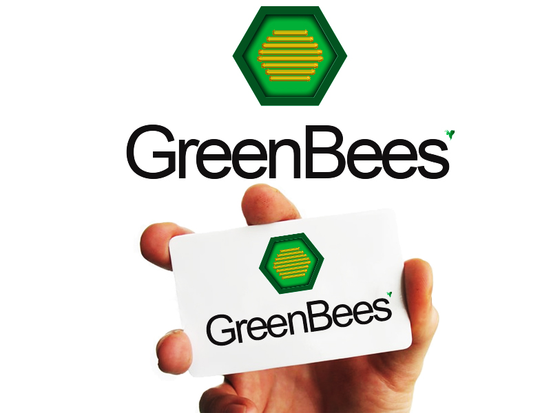 Logo Design by Mythos Designs - Entry No. 84 in the Logo Design Contest Greenbees Logo Design.