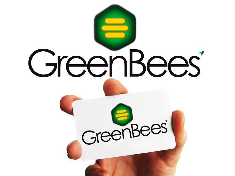 Logo Design by Mythos Designs - Entry No. 85 in the Logo Design Contest Greenbees Logo Design.