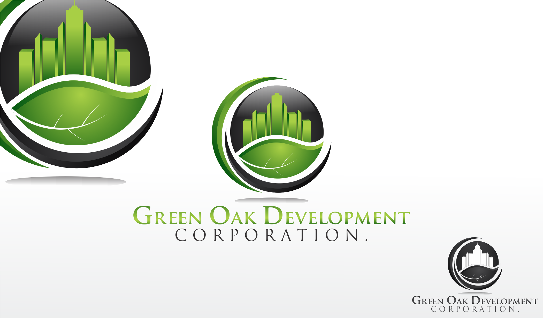 Logo Design by Dicky Kurniadi Hari Saputro - Entry No. 168 in the Logo Design Contest Unique Logo Design Wanted for Green Oak Development Corp..