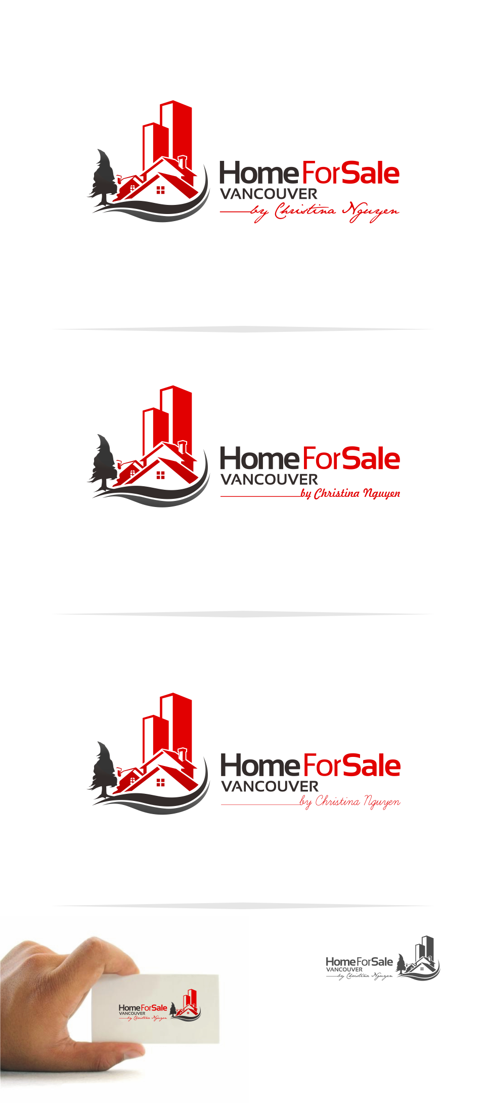 Logo Design by Mitchnick Sunardi - Entry No. 61 in the Logo Design Contest New Logo Design for HomeForSaleVancouver.