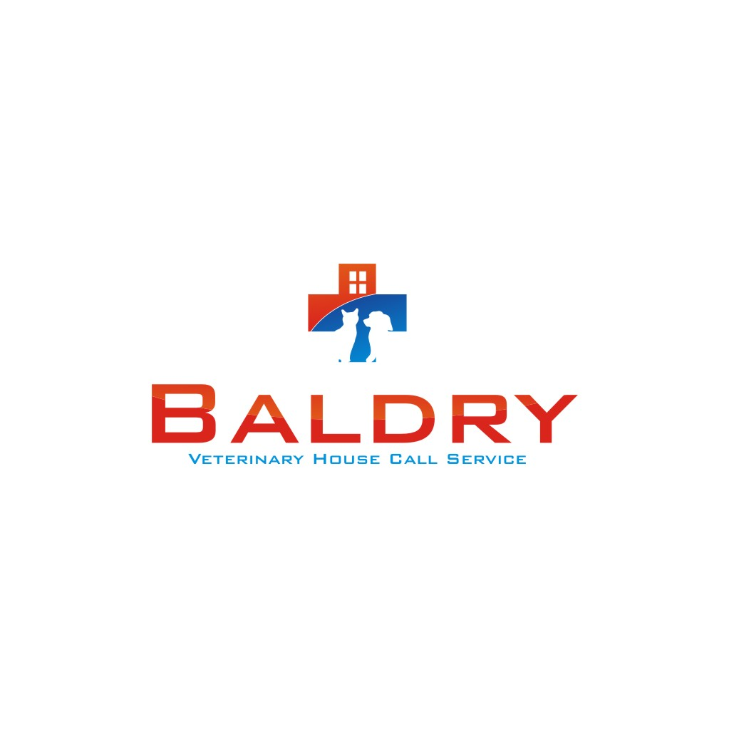 Logo Design by jalal - Entry No. 42 in the Logo Design Contest Captivating Logo Design for Baldry Veterinary House Call Service.