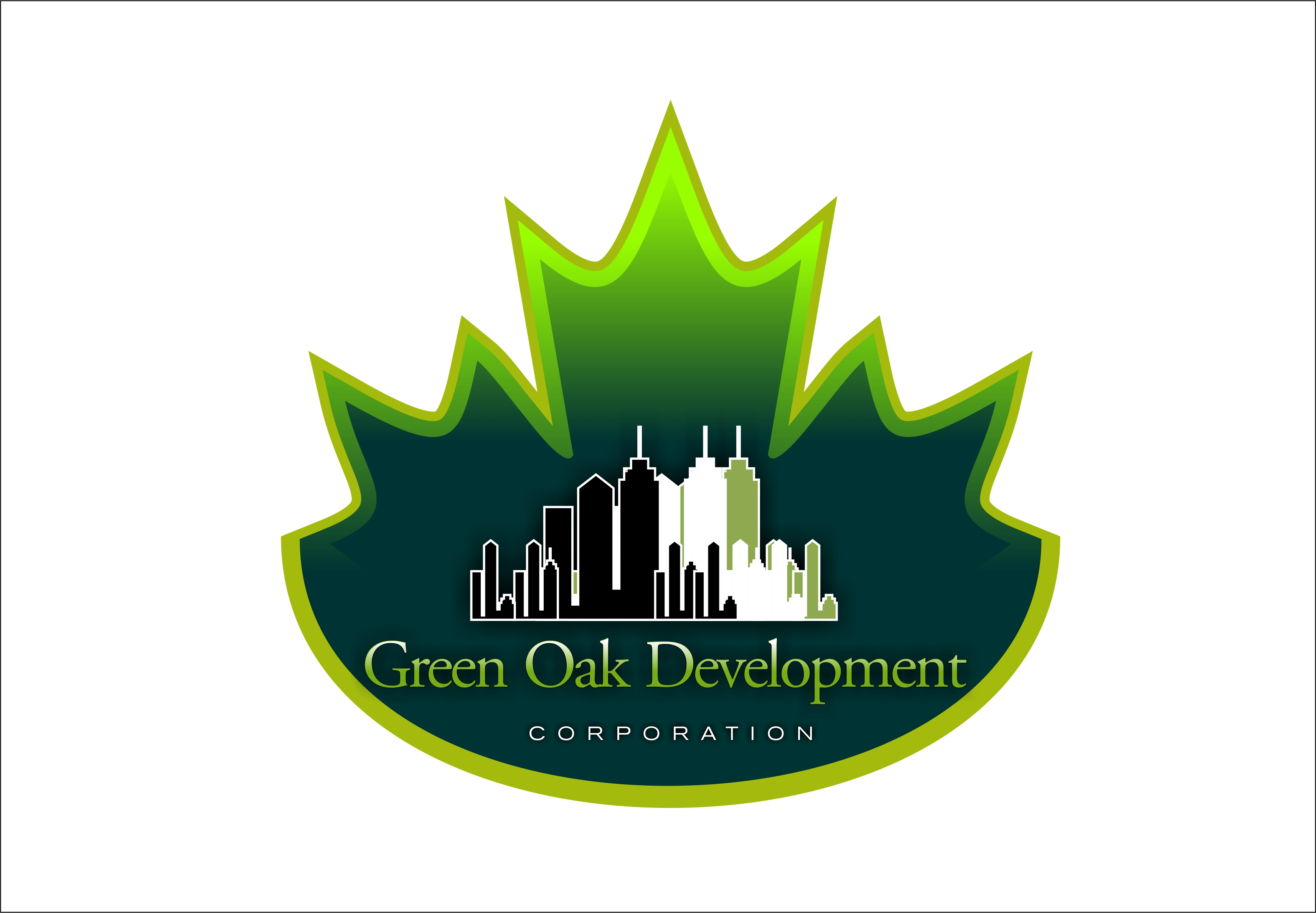 Logo Design by Fatih Ercan - Entry No. 177 in the Logo Design Contest Unique Logo Design Wanted for Green Oak Development Corp..