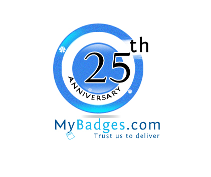 Logo Design by Crystal Desizns - Entry No. 40 in the Logo Design Contest 25th Anniversary Logo Design Wanted for MyBadges.com.
