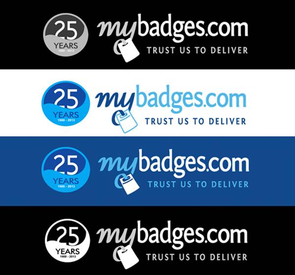 Logo Design by Respati Himawan - Entry No. 42 in the Logo Design Contest 25th Anniversary Logo Design Wanted for MyBadges.com.