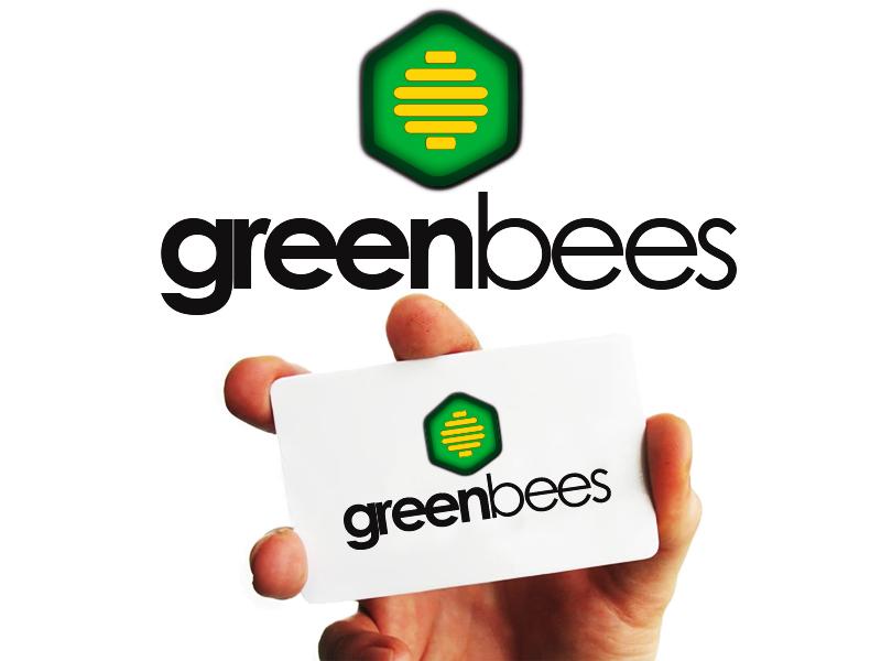 Logo Design by Mythos Designs - Entry No. 119 in the Logo Design Contest Greenbees Logo Design.