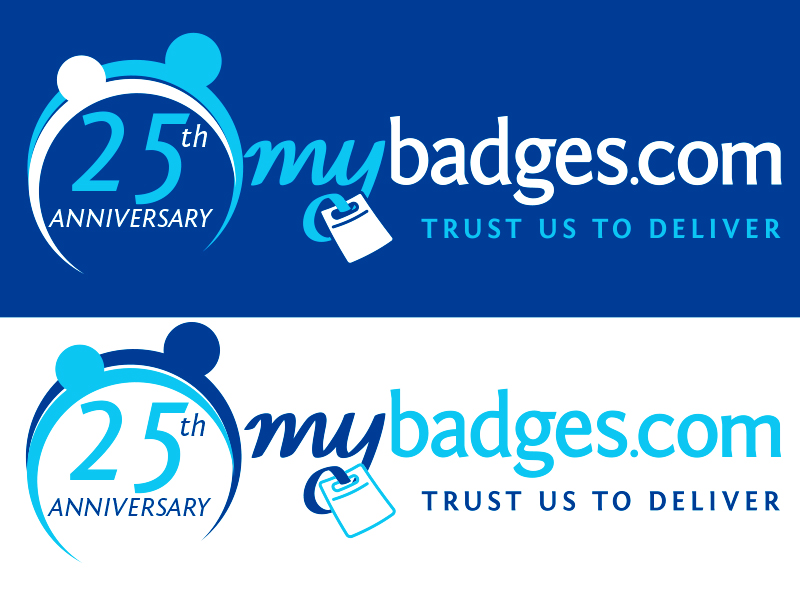 Logo Design by Mythos Designs - Entry No. 45 in the Logo Design Contest 25th Anniversary Logo Design Wanted for MyBadges.com.