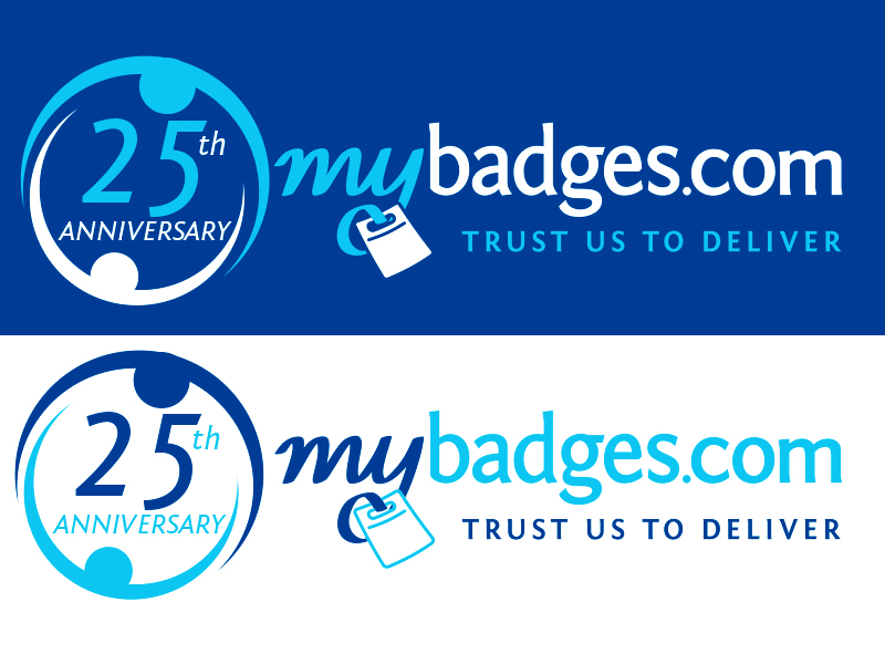 Logo Design by Mythos Designs - Entry No. 46 in the Logo Design Contest 25th Anniversary Logo Design Wanted for MyBadges.com.