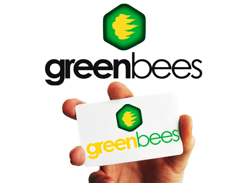 Logo Design by Mythos Designs - Entry No. 126 in the Logo Design Contest Greenbees Logo Design.