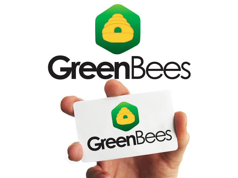Logo Design by Mythos Designs - Entry No. 132 in the Logo Design Contest Greenbees Logo Design.