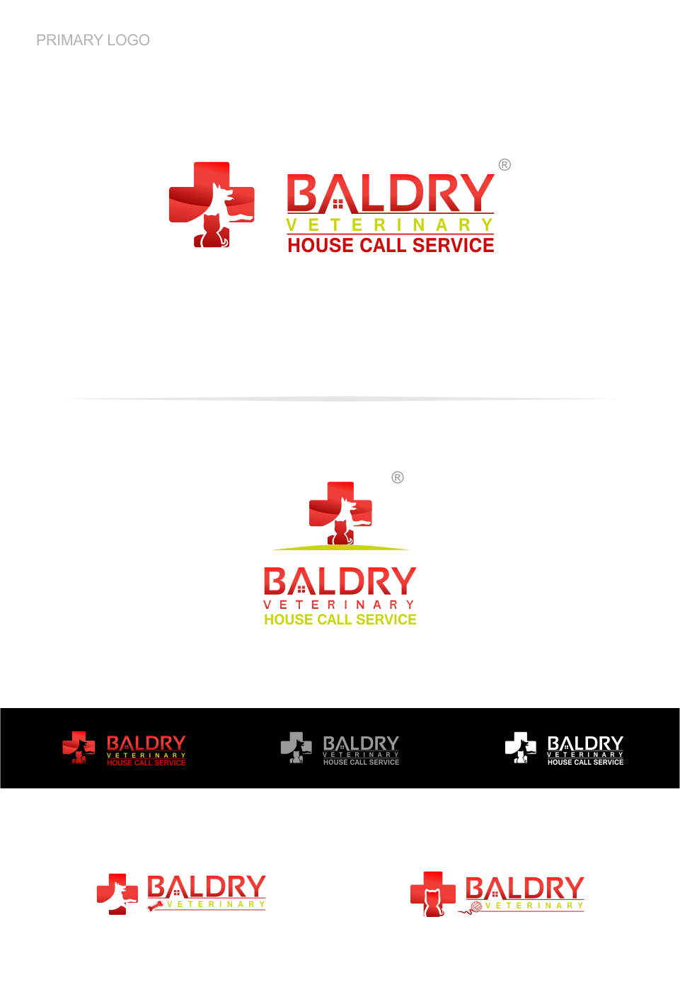 Logo Design by Mitchnick Sunardi - Entry No. 51 in the Logo Design Contest Captivating Logo Design for Baldry Veterinary House Call Service.