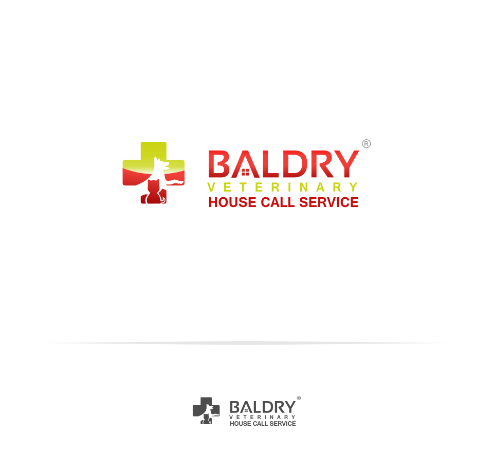 Logo Design by Mitchnick Sunardi - Entry No. 52 in the Logo Design Contest Captivating Logo Design for Baldry Veterinary House Call Service.