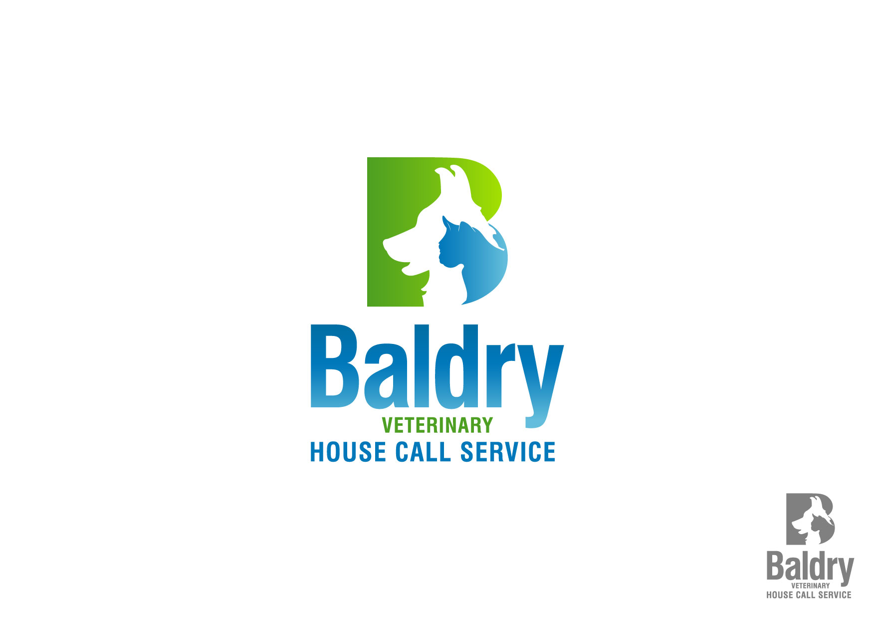 Logo Design by Nurgalih Destianto - Entry No. 53 in the Logo Design Contest Captivating Logo Design for Baldry Veterinary House Call Service.