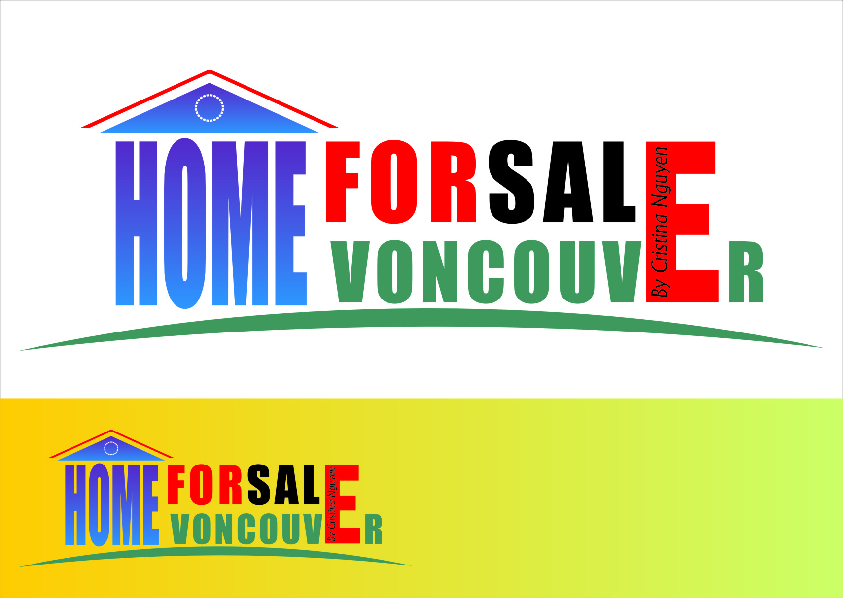 Logo Design by RasYa Muhammad Athaya - Entry No. 71 in the Logo Design Contest New Logo Design for HomeForSaleVancouver.