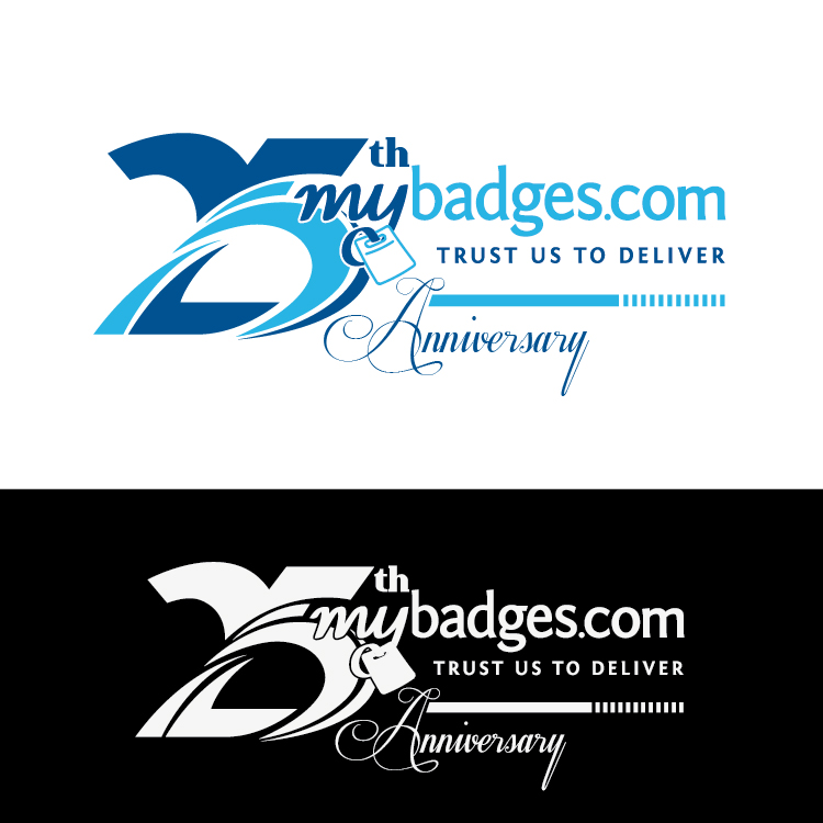 Logo Design by lagalag - Entry No. 53 in the Logo Design Contest 25th Anniversary Logo Design Wanted for MyBadges.com.