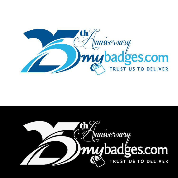 Logo Design by lagalag - Entry No. 54 in the Logo Design Contest 25th Anniversary Logo Design Wanted for MyBadges.com.