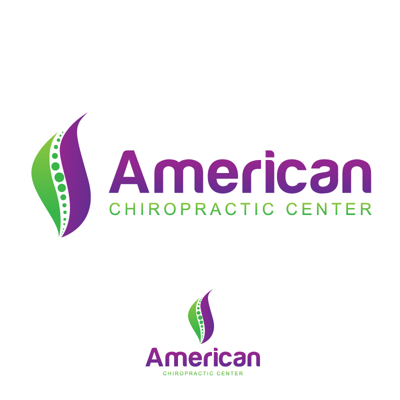 Logo Design by Gouranga Deuri - Entry No. 223 in the Logo Design Contest Logo Design for American Chiropractic Center.
