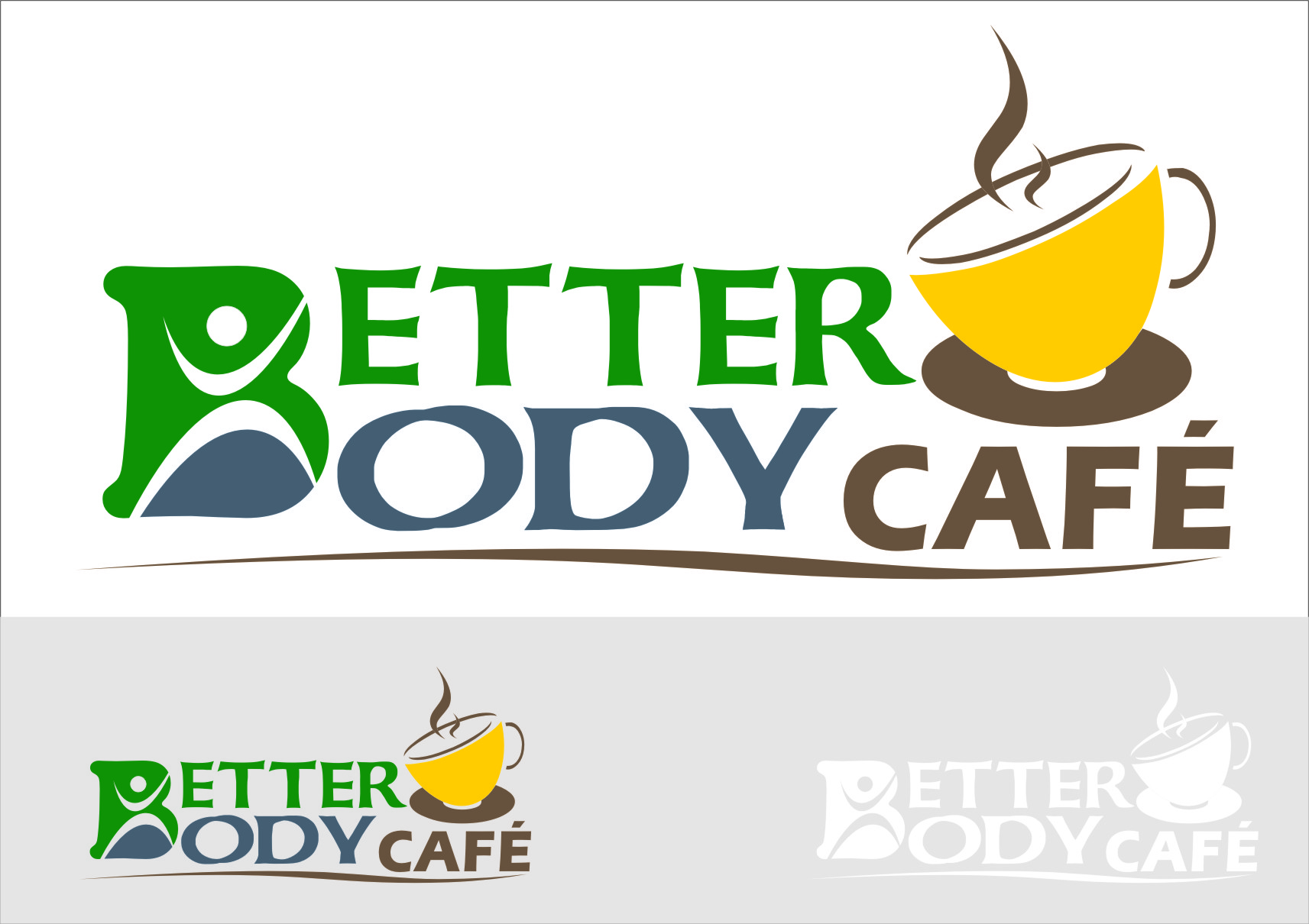 Logo Design by RoSyid Rono-Rene On Java - Entry No. 55 in the Logo Design Contest New Logo Design for Better Body Cafe.