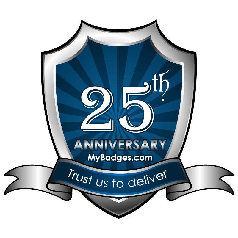 Logo Design by Gouranga Deuri - Entry No. 56 in the Logo Design Contest 25th Anniversary Logo Design Wanted for MyBadges.com.