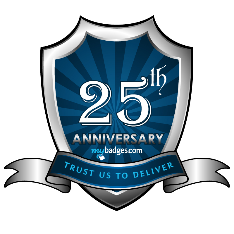 Logo Design by Gouranga Deuri - Entry No. 57 in the Logo Design Contest 25th Anniversary Logo Design Wanted for MyBadges.com.