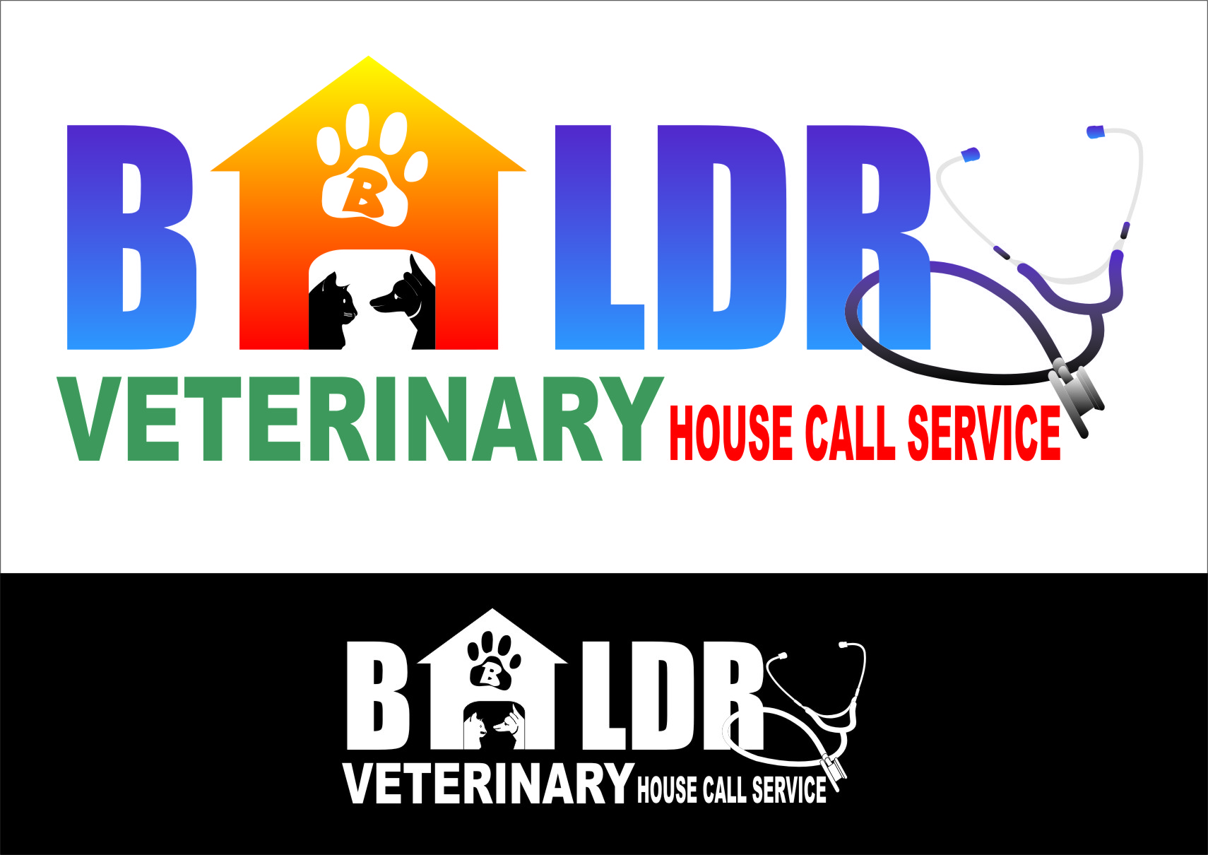 Logo Design by Ngepet_art - Entry No. 54 in the Logo Design Contest Captivating Logo Design for Baldry Veterinary House Call Service.