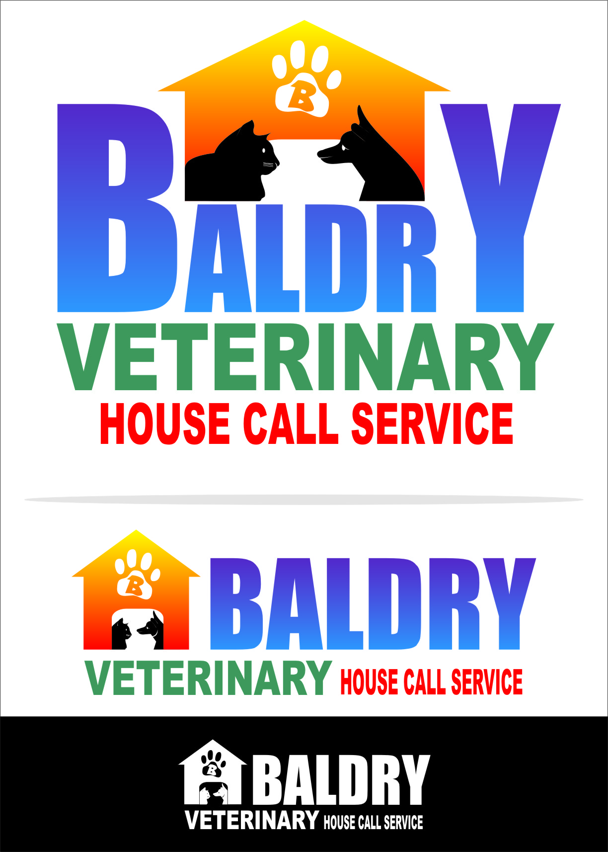 Logo Design by RasYa Muhammad Athaya - Entry No. 55 in the Logo Design Contest Captivating Logo Design for Baldry Veterinary House Call Service.