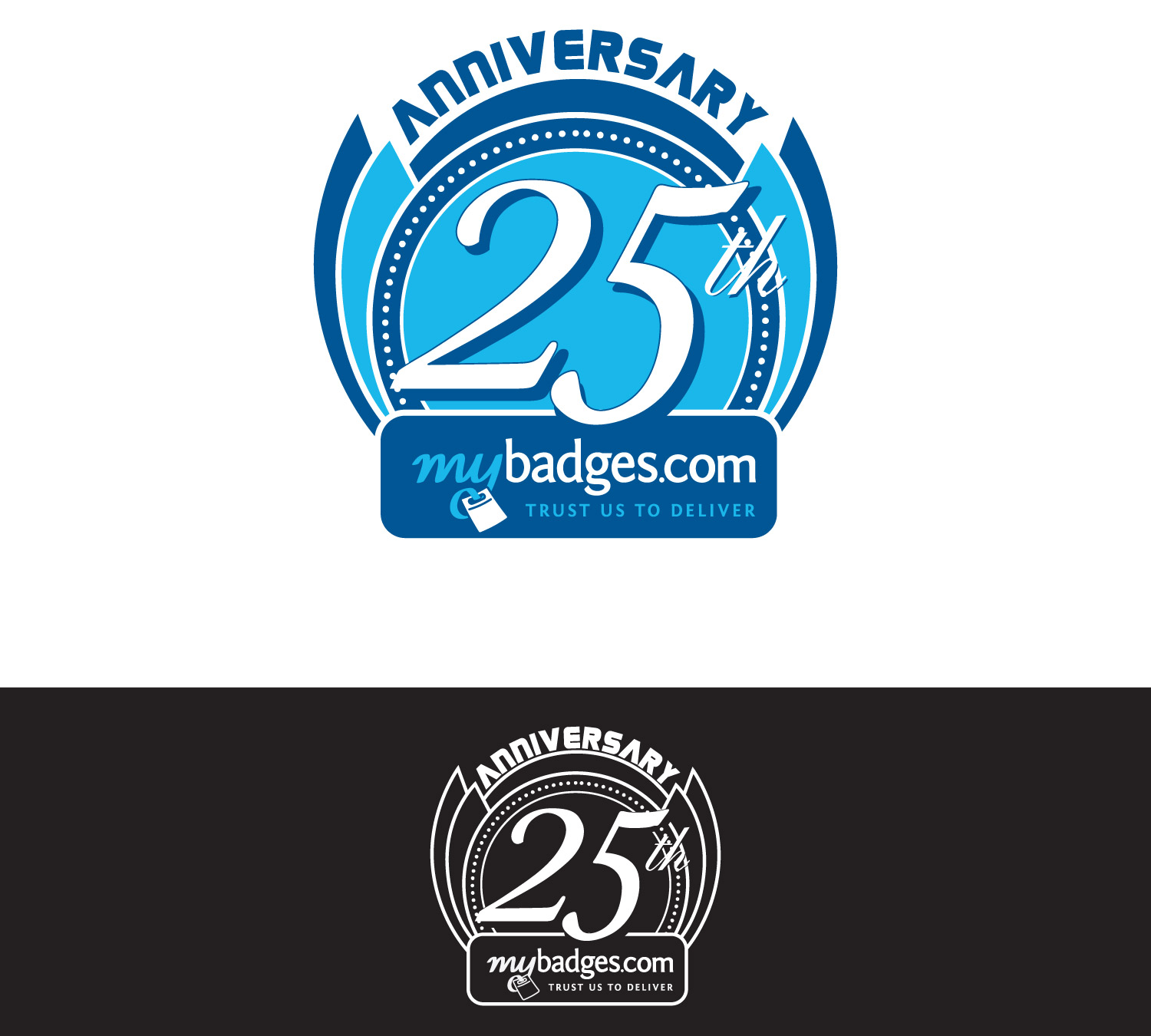 Logo Design by lagalag - Entry No. 60 in the Logo Design Contest 25th Anniversary Logo Design Wanted for MyBadges.com.