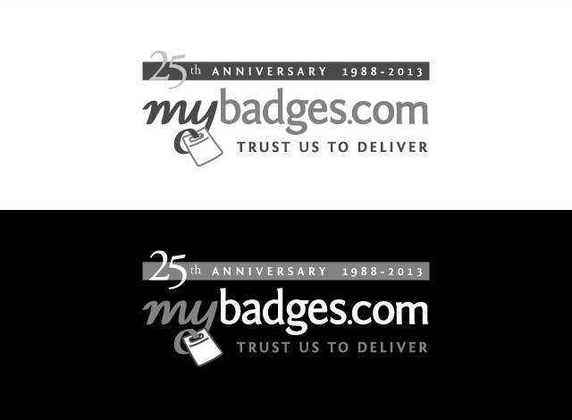 Logo Design by Private User - Entry No. 64 in the Logo Design Contest 25th Anniversary Logo Design Wanted for MyBadges.com.