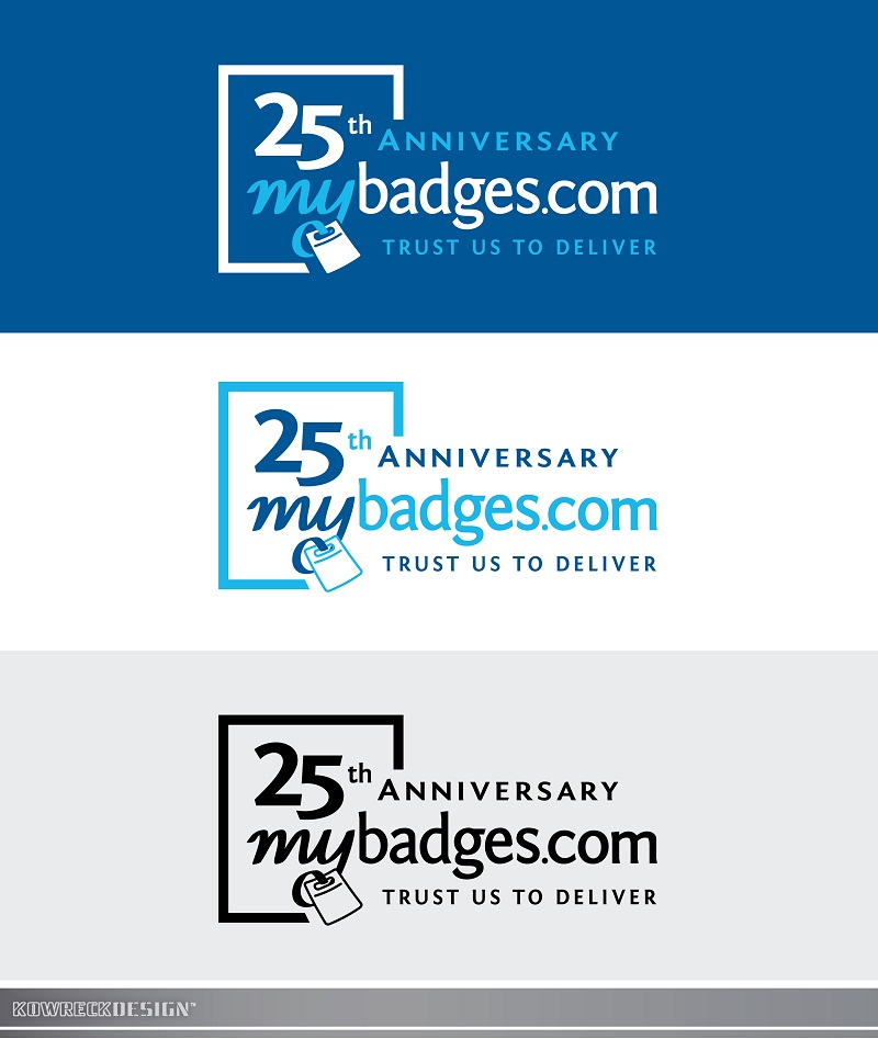 Logo Design by kowreck - Entry No. 67 in the Logo Design Contest 25th Anniversary Logo Design Wanted for MyBadges.com.