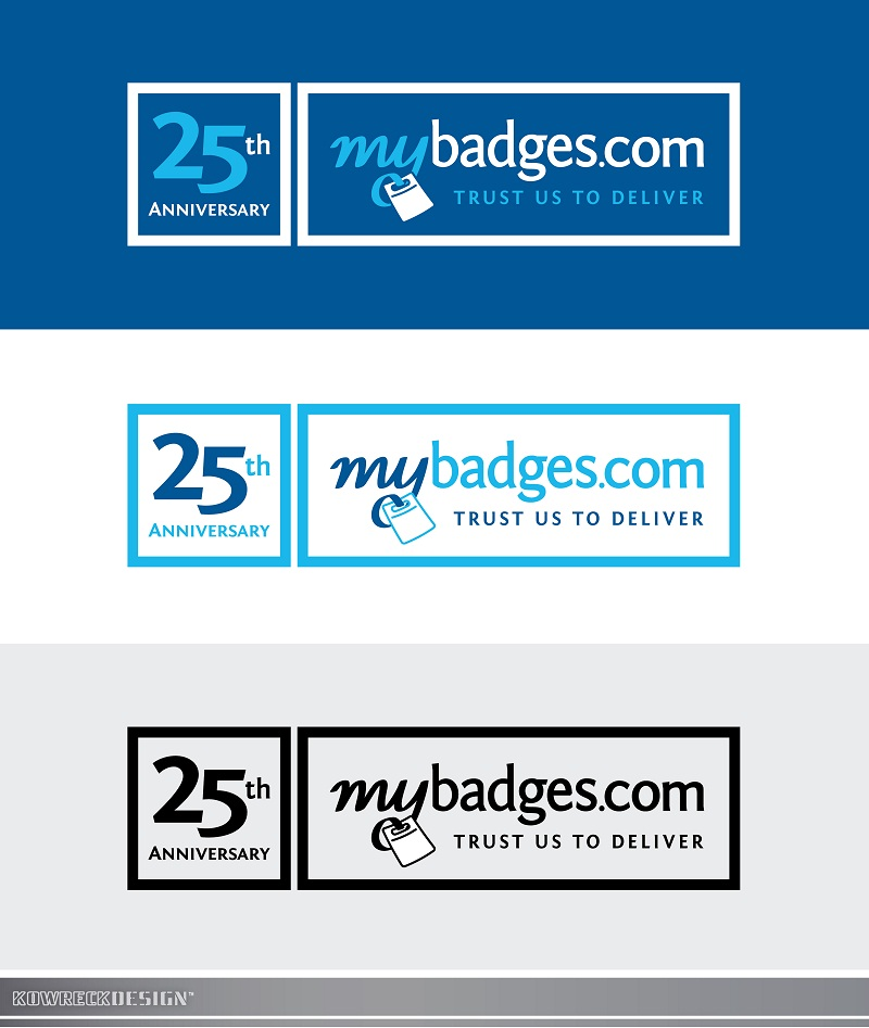 Logo Design by kowreck - Entry No. 68 in the Logo Design Contest 25th Anniversary Logo Design Wanted for MyBadges.com.