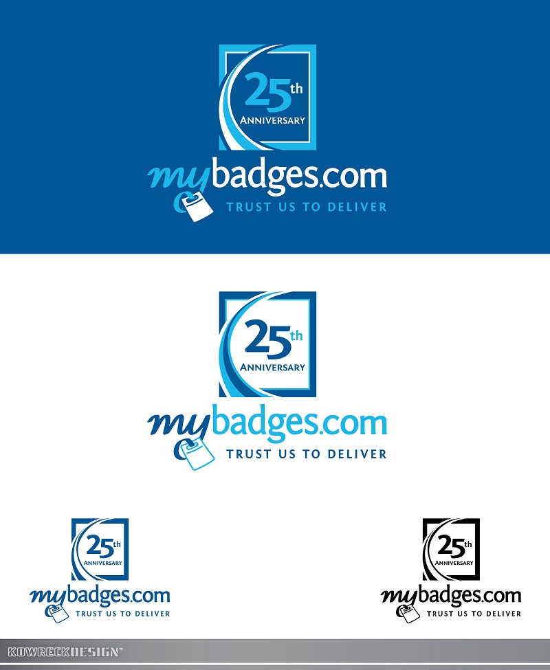 Logo Design by kowreck - Entry No. 71 in the Logo Design Contest 25th Anniversary Logo Design Wanted for MyBadges.com.