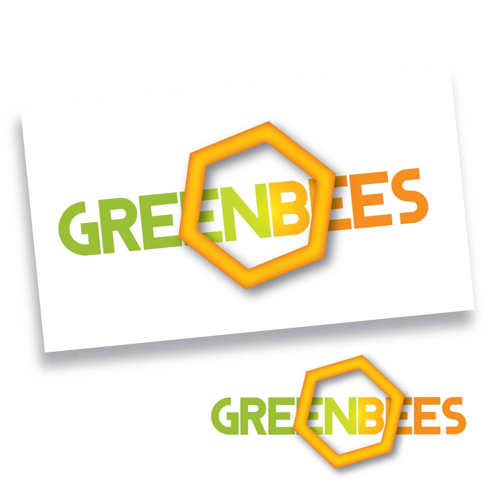 Logo Design by Teresa Abney - Entry No. 171 in the Logo Design Contest Greenbees Logo Design.