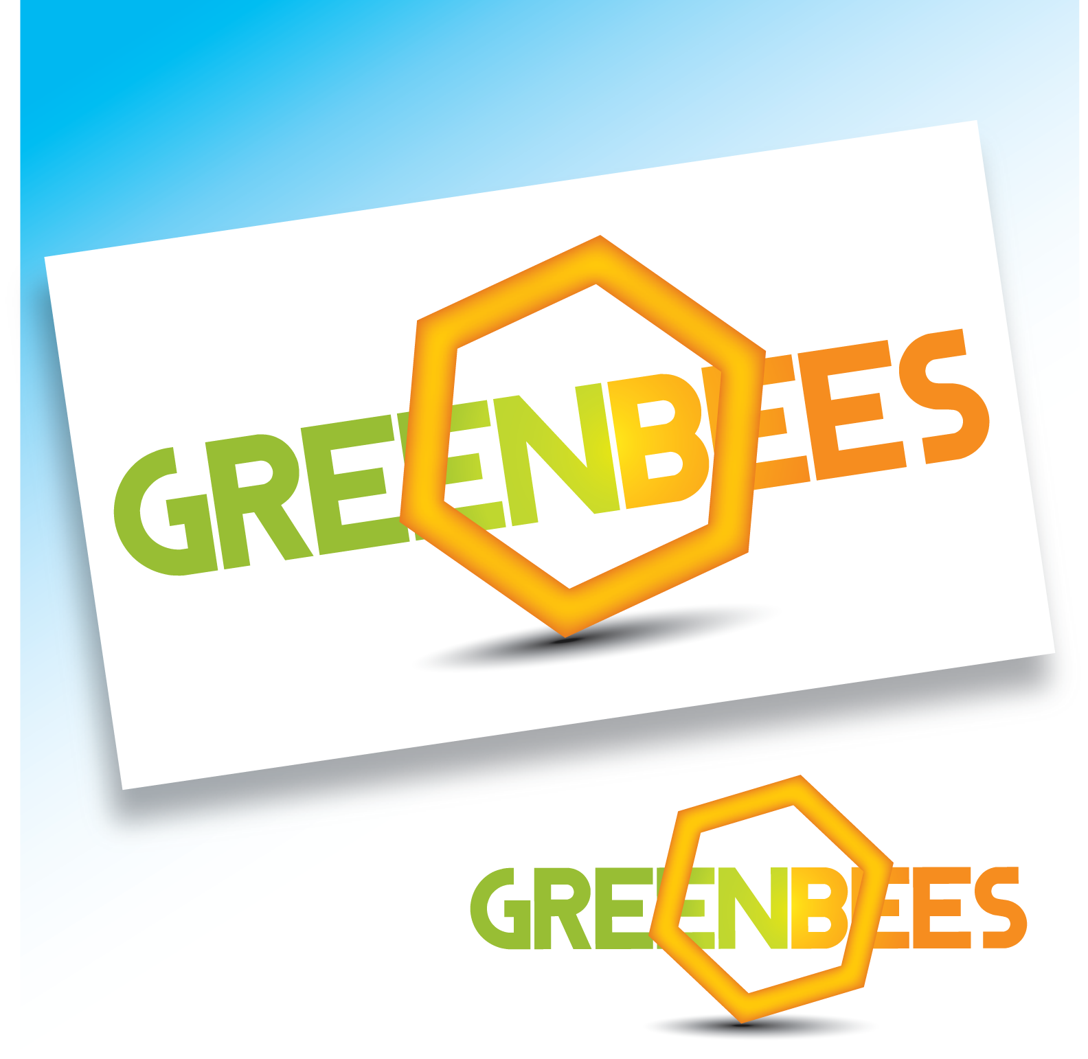Logo Design by Teresa Abney - Entry No. 172 in the Logo Design Contest Greenbees Logo Design.