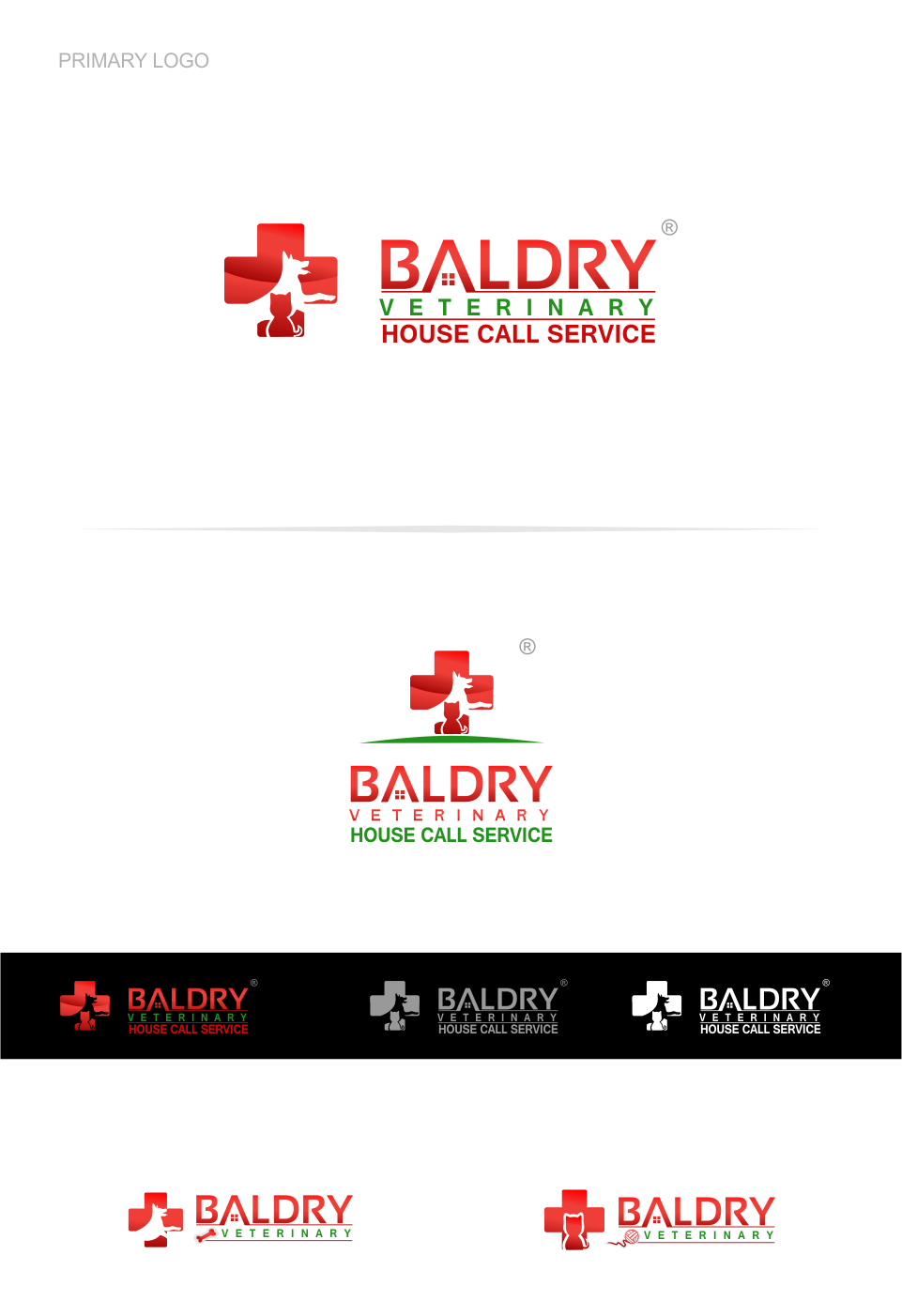 Logo Design by Mitchnick Sunardi - Entry No. 70 in the Logo Design Contest Captivating Logo Design for Baldry Veterinary House Call Service.