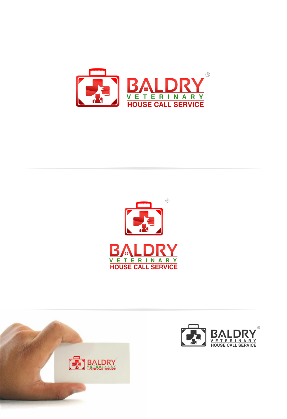 Logo Design by Mitchnick Sunardi - Entry No. 71 in the Logo Design Contest Captivating Logo Design for Baldry Veterinary House Call Service.