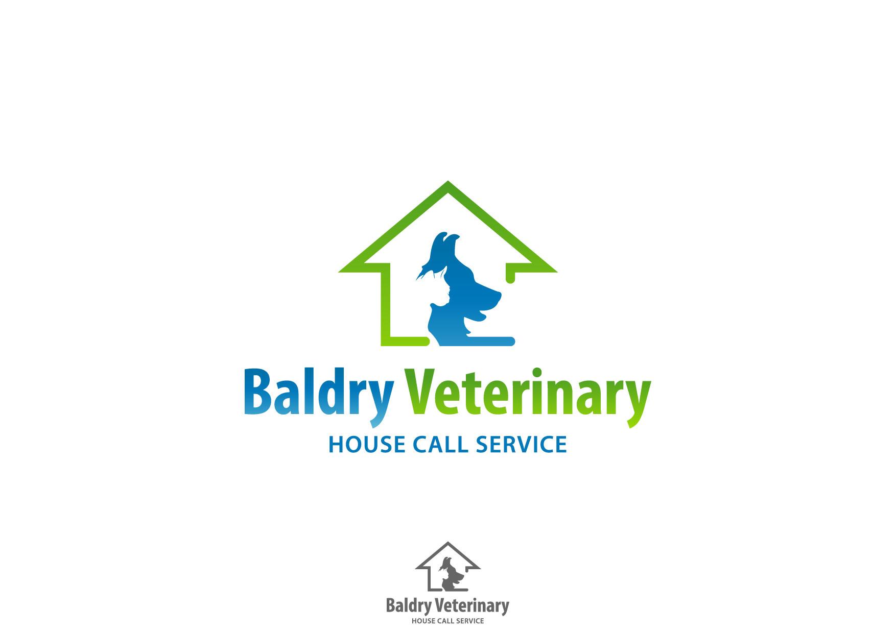 Logo Design by Nurgalih Destianto - Entry No. 74 in the Logo Design Contest Captivating Logo Design for Baldry Veterinary House Call Service.