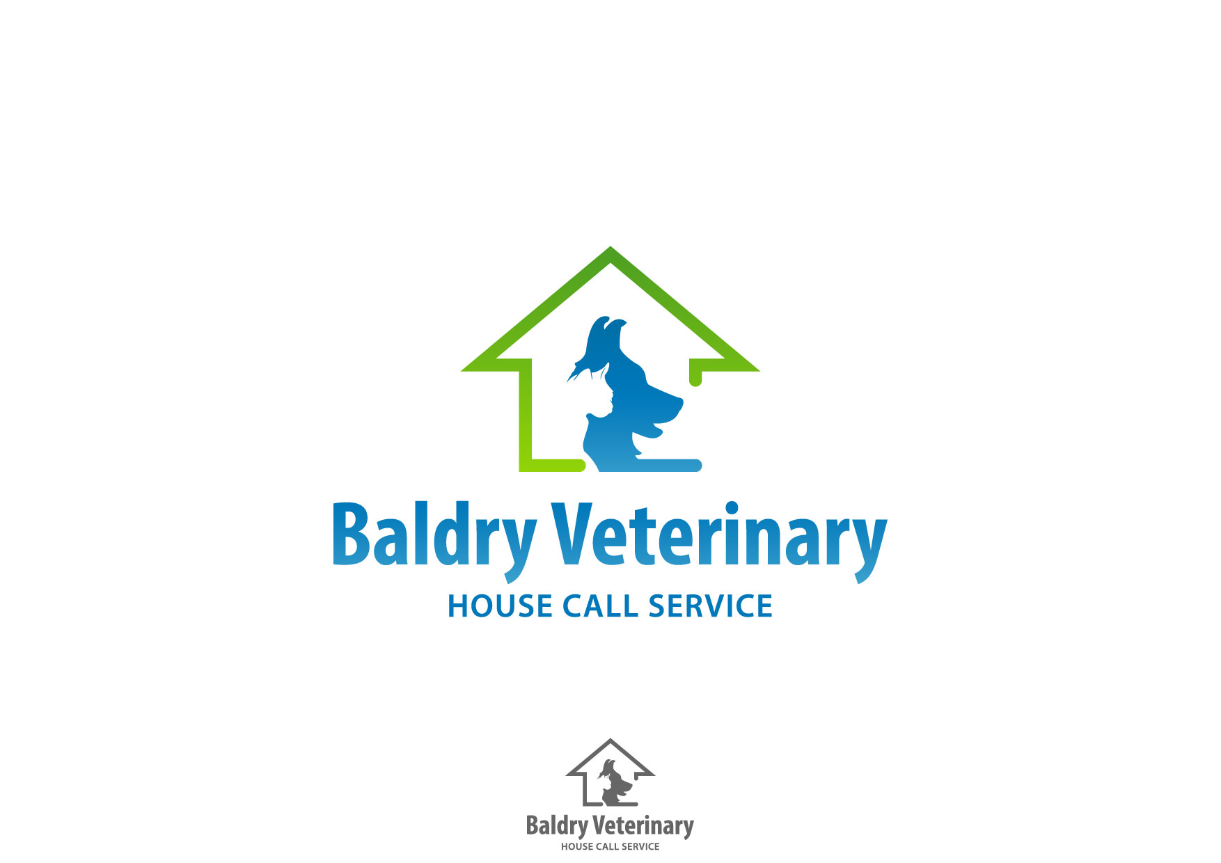 Logo Design by Nurgalih Destianto - Entry No. 75 in the Logo Design Contest Captivating Logo Design for Baldry Veterinary House Call Service.