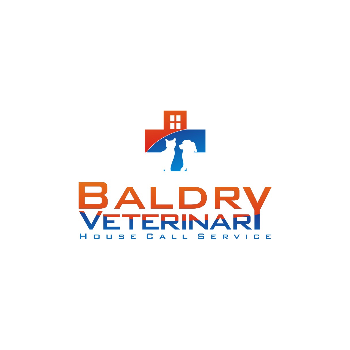 Logo Design by jalal - Entry No. 80 in the Logo Design Contest Captivating Logo Design for Baldry Veterinary House Call Service.