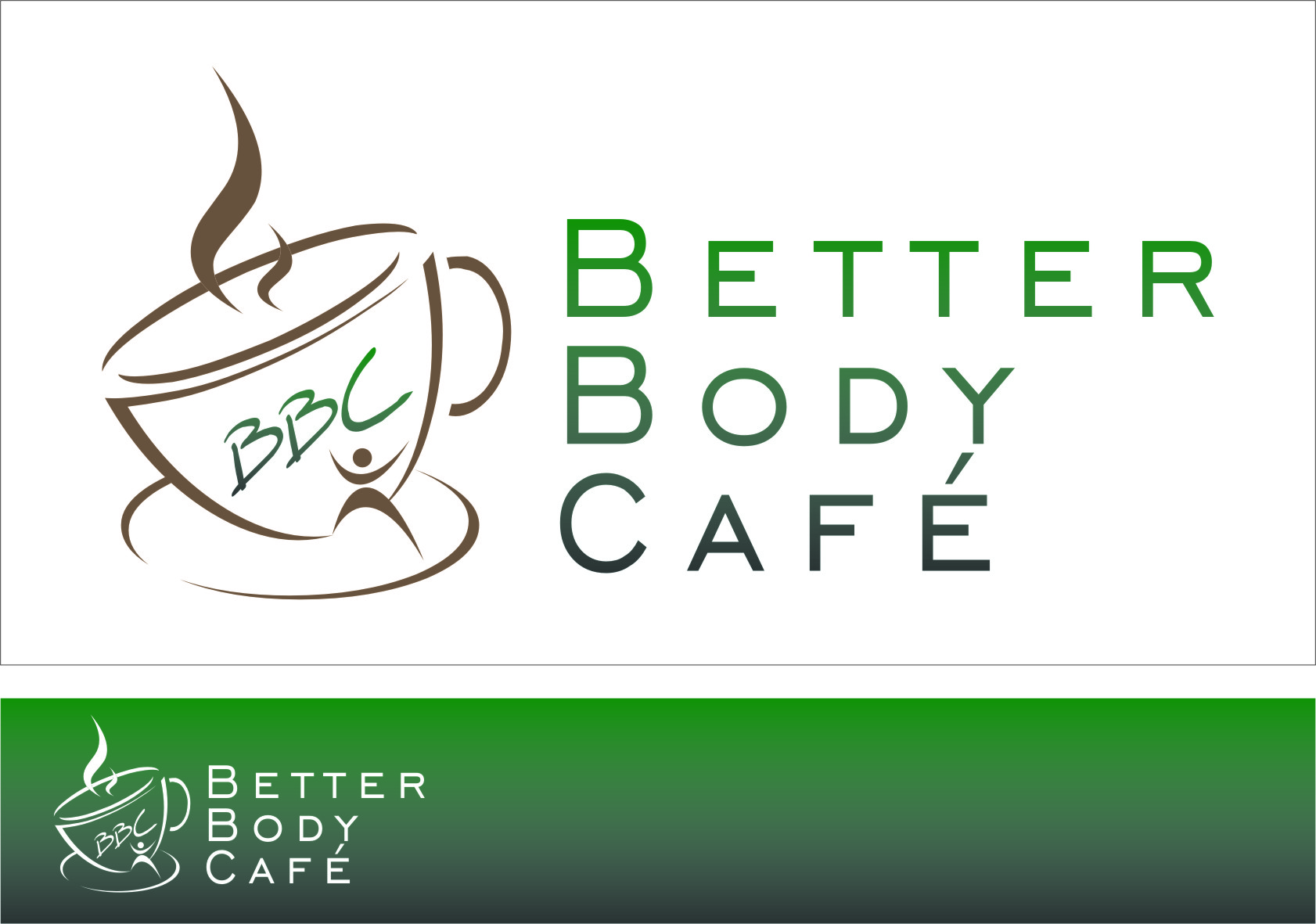 Logo Design by RasYa Muhammad Athaya - Entry No. 63 in the Logo Design Contest New Logo Design for Better Body Cafe.
