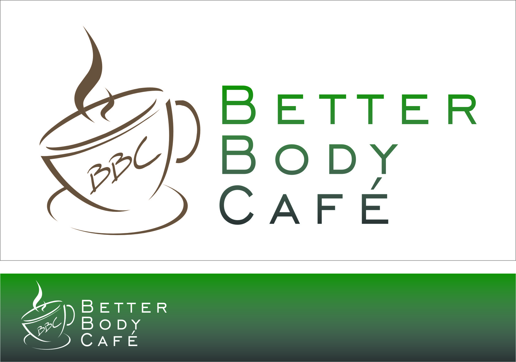 Logo Design by RasYa Muhammad Athaya - Entry No. 64 in the Logo Design Contest New Logo Design for Better Body Cafe.
